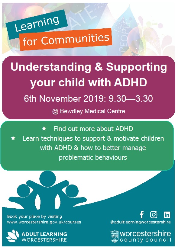 Supporting your Child with ADHD 6th Nov